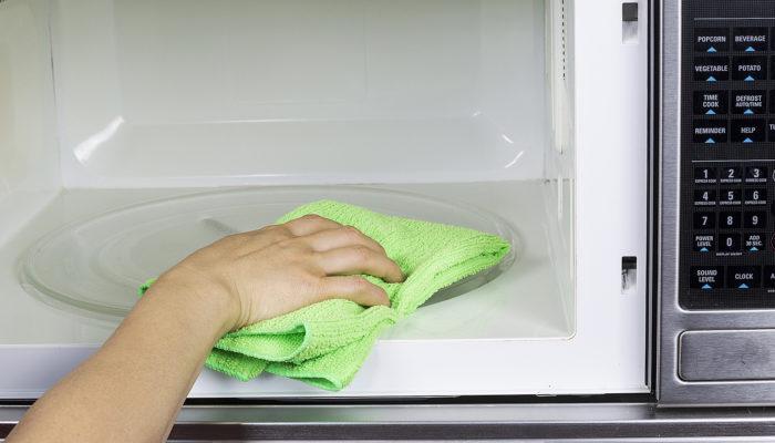 чистка микроволновки