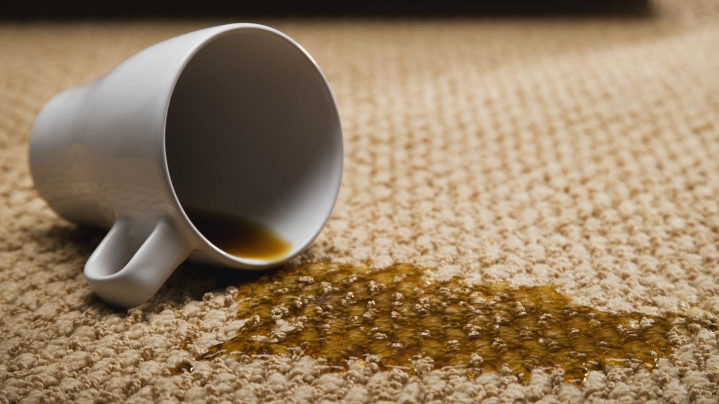 Как вывести пятно от чая и кофе фото